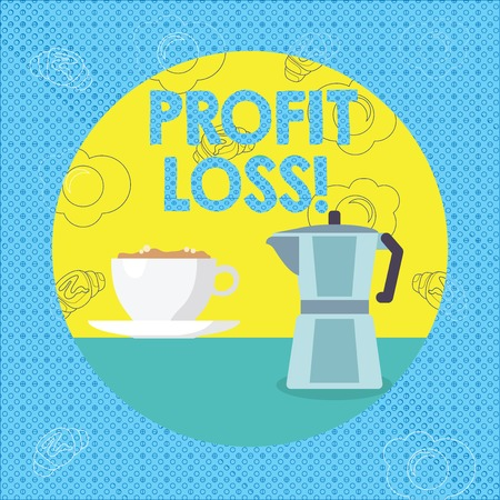 Text sign showing Profit Loss. Business photo text Financial year end account contains total revenues and expenses Stock Photo