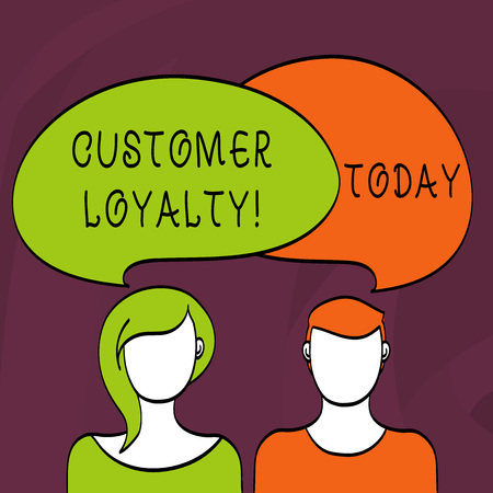Word writing text Customer Loyalty. Business photo showcasing Client Satisfaction LongTerm relation Confidence