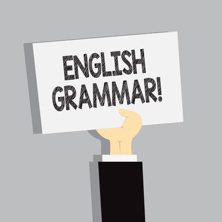 Word writing text English Grammar. Business photo showcasing Language Knowledge School Education Literature Reading
