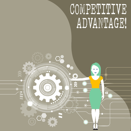 Conceptual hand writing showing Competitive Advantage. Concept meaning owning quality that will assure you leading in field