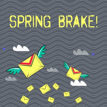 Text sign showing Spring Brake. Business photo text Easter week School vacation for students Party Relax Leisure