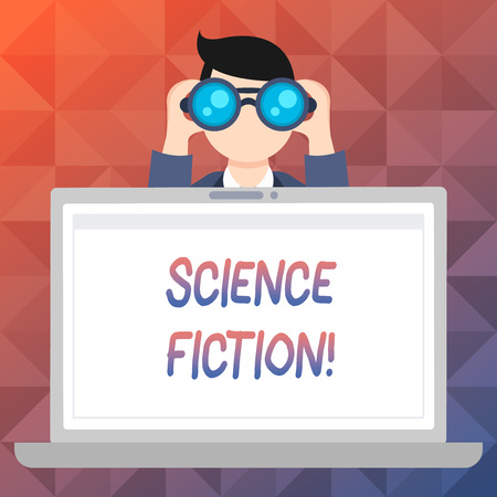 Word writing text Science Fiction. Business photo showcasing Fantasy Entertainment Genre Futuristic Fantastic Adventures