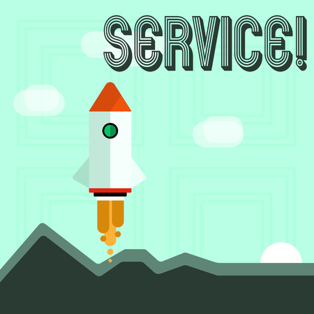 Writing note showing Service. Business concept for Helping somebody Supporting Provide Transportation Communication