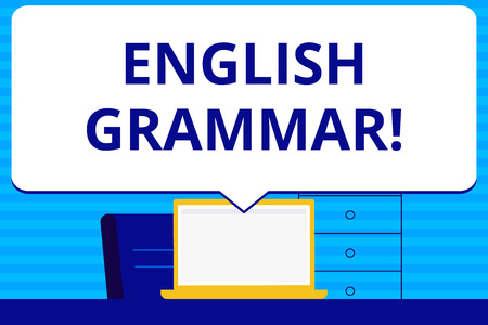 Conceptual hand writing showing English Grammar. Concept meaning Language Knowledge School Education Literature Reading