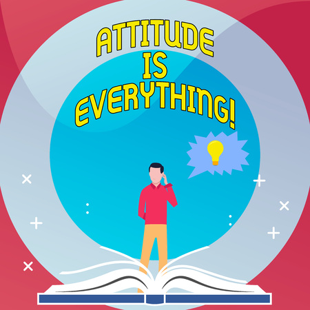 Word writing text Attitude Is Everything. Business photo showcasing Personal Outlook Perspective Orientation Behavior Stok Fotoğraf - 118566411