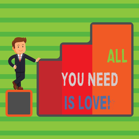 Word writing text All You Need Is Love. Business photo showcasing Deep affection needs appreciation roanalysisce Stock Photo