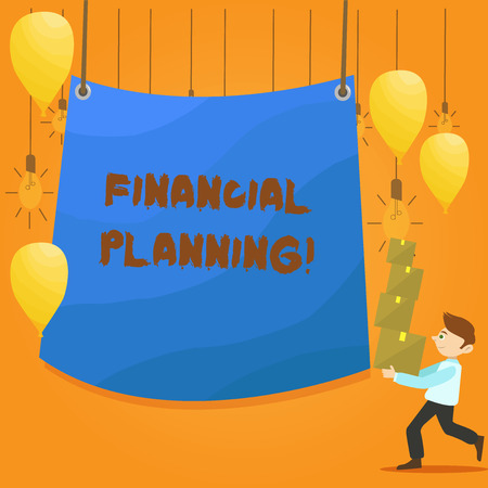 Word writing text Financial Planning. Business photo showcasing Accounting Planning Strategy Analyze