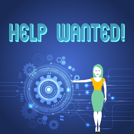 Handwriting text Help Wanted. Conceptual photo Employee needed Worker Recruitment Headhunting Reklamní fotografie - 118572119