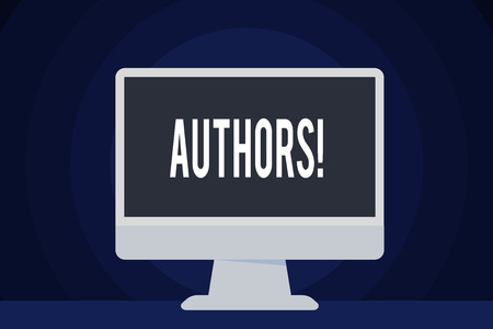 Text sign showing Authors. Business photo text Writer Journalist Poet Biographer Playwright Composer Creator Stok Fotoğraf