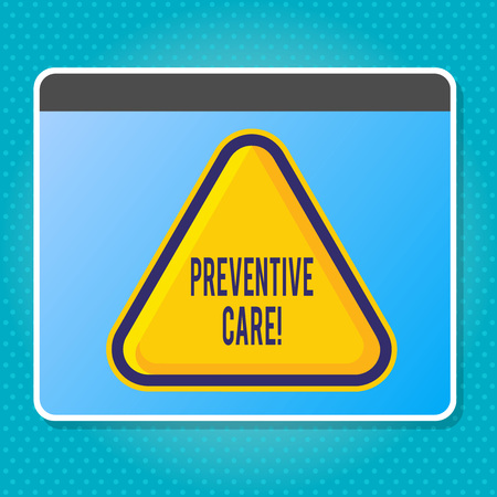 Handwriting text writing Preventive Care. Conceptual photo Health Prevention Diagnosis Tests Medical Consultation