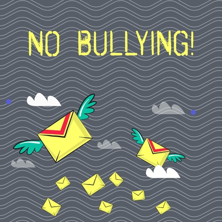 Text sign showing No Bullying. Business photo text Forbidden Abuse Harassment Aggression Assault