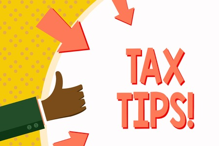 Word writing text Tax Tips. Business photo showcasing Help Ideas for taxation Increasing Earnings Reduction on expenses Reklamní fotografie