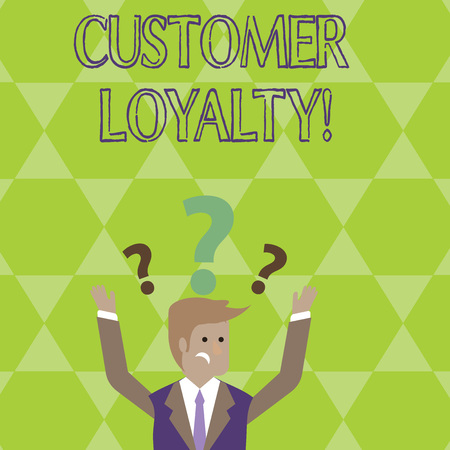 Conceptual hand writing showing Customer Loyalty. Concept meaning Client Satisfaction LongTerm relation Confidence