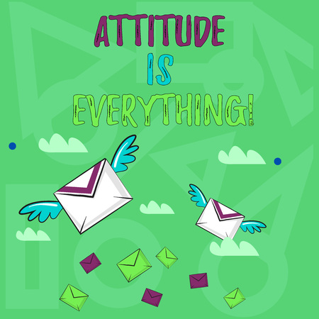 Handwriting text writing Attitude Is Everything. Conceptual photo Personal Outlook Perspective Orientation Behavior Stok Fotoğraf - 118600695