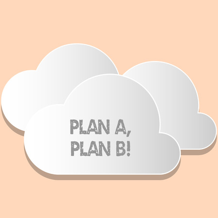 Word writing text Plan A Plan B. Business photo showcasing Strategic Solutions Ideas Paths to follow to choose from