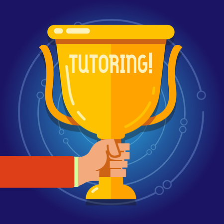 Text sign showing Tutoring. Business photo text Mentoring Teaching Instructing Preparing Supporting Give lessons
