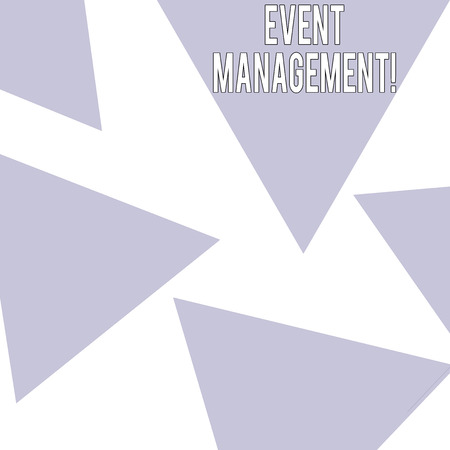 Word writing text Event Management. Business photo showcasing Special Occasion Schedule Organization Arrange Activities