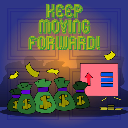 Handwriting text writing Keep Moving Forward. Conceptual photo improvement Career encouraging Go ahead be better Stock Photo