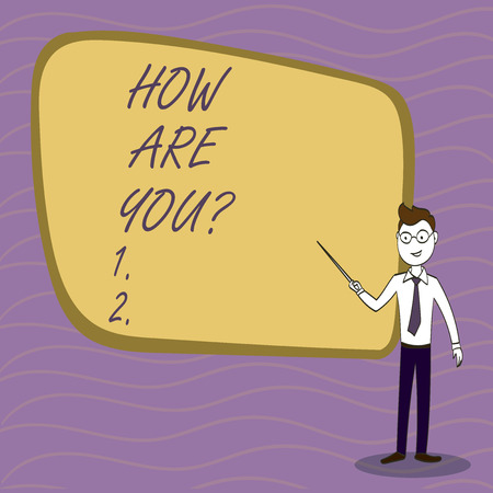 Handwriting text writing How Are Youquestion. Conceptual photo Your Health status Asking about your life and health 스톡 콘텐츠