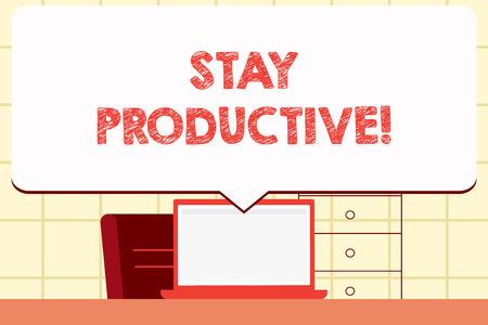 Writing note showing Stay Productive. Business concept for Efficiency Concentration Productivity Reklamní fotografie