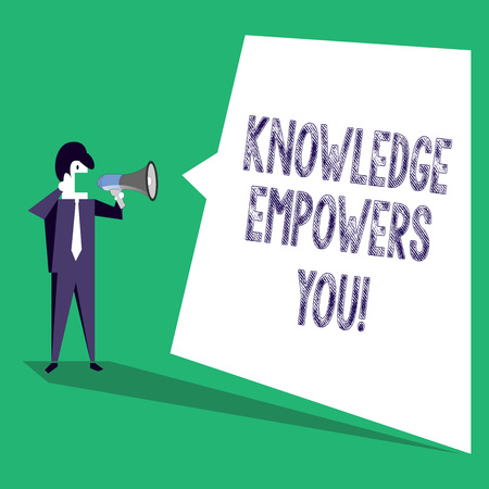 Text sign showing Knowledge Empowers You. Business photo text Education responsible to achieve your success
