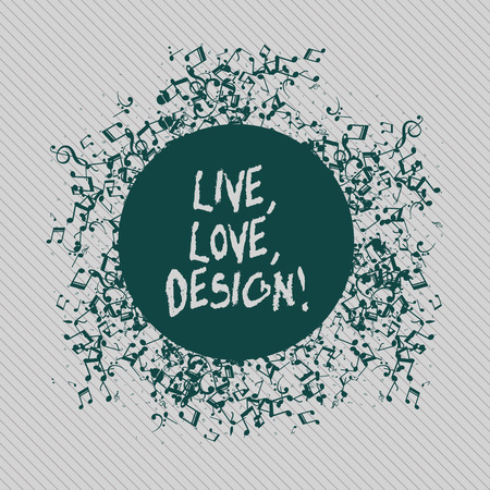 Conceptual hand writing showing Live Love Design. Concept meaning Exist Tenderness Create Passion Desire Stock Photo