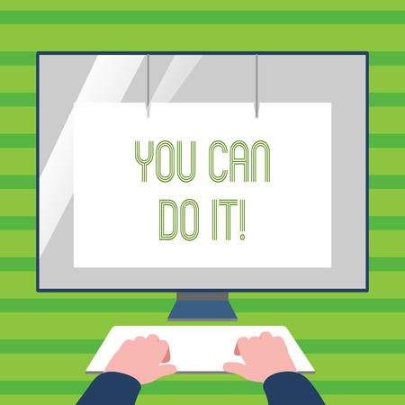 Word writing text You Can Do It. Business photo showcasing Inspirational Message Motivational Positive