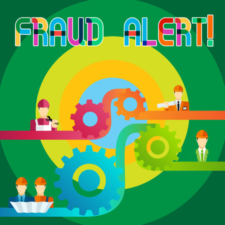 Text sign showing Fraud Alert. Business photo showcasing Security Message Fraudulent activity suspected