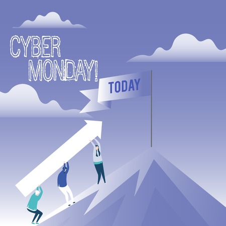 Word writing text Cyber Monday. Business photo showcasing Special sales after Black Friday Online Shopping Ecommerce