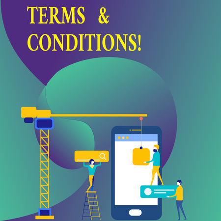 Text sign showing Terms And Conditions. Business photo showcasing Legal Law Agreement Disclaimer Restrictions Settlement Stock Photo