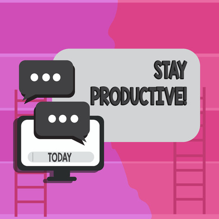 Writing note showing Stay Productive. Business concept for Efficiency Concentration Productivity Фото со стока