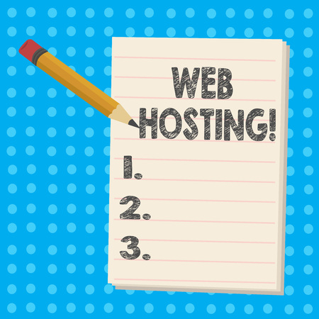 Handwriting text Web Hosting. Conceptual photo Server service that allows somebody to make website accessible