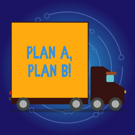 Writing note showing Plan A Plan B. Business concept for Strategic Solutions Ideas Paths to follow to choose from Stock Photo