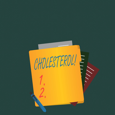 Writing note showing Cholesterol. Business concept for Low Density Lipoprotein High Density Lipoprotein Fat Overweight