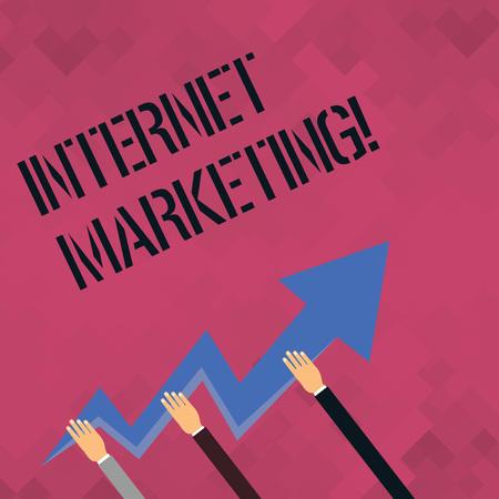 Word writing text Internet Marketing. Business photo showcasing Online Commerce Networking Entrepreneur Entrepreneurship