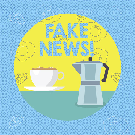 Text sign showing Fake News. Business photo text False Unsubstantiated Information Hoax