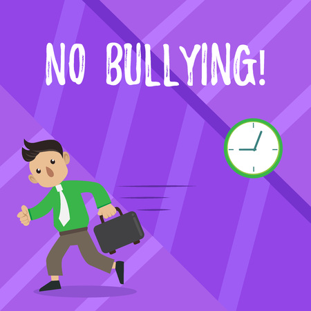 Text sign showing No Bullying. Business photo showcasing Forbidden Abuse Harassment Aggression Assault Stock Photo