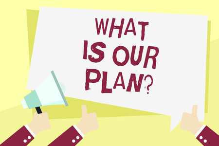 Word writing text What Is Our Planquestion. Business photo showcasing Mission Purpose Agenda Strategize Brainstorming