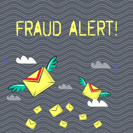 Text sign showing Fraud Alert. Business photo text Security Message Fraudulent activity suspected Stock Photo