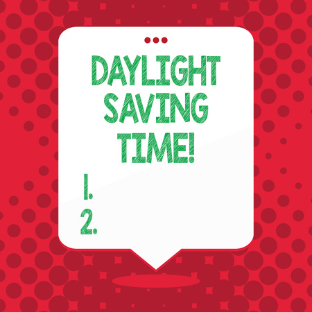 Handwriting text Daylight Saving Time. Conceptual photo advancing clocks during summer to save electricity Reklamní fotografie