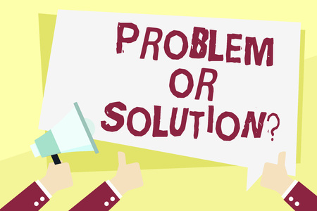 Word writing text Problem Or Solutionquestion. Business photo showcasing Think Solve Analysis Solving Conclusion Stok Fotoğraf