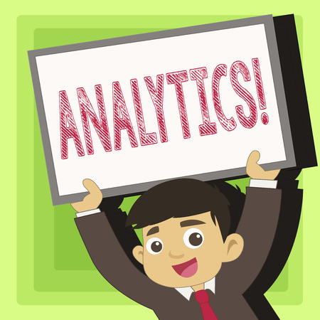 Handwriting text Analytics. Conceptual photo Data Analysis Financial Information Statistics Report Dashboard