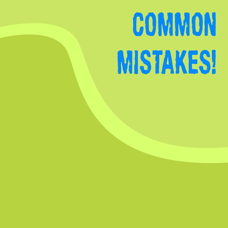 Word writing text Common Mistakes. Business photo showcasing lot of showing do same action in wrong way Stock fotó