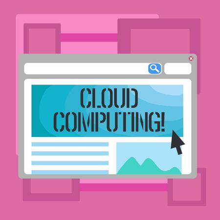 Handwriting text writing Cloud Computing. Conceptual photo Online Information Storage Virtual Media Data Server