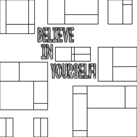 Handwriting text Believe In Yourself. Conceptual photo Determination Positivity Courage Trust Faith Belief Stock Photo