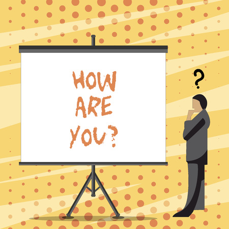 Text sign showing How Are You question. Business photo text Your Health status Asking about your life and health 写真素材 - 118710666