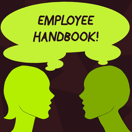 Handwriting text Employee Handbook. Conceptual photo Document Manual Regulations Rules Guidebook Policy Code