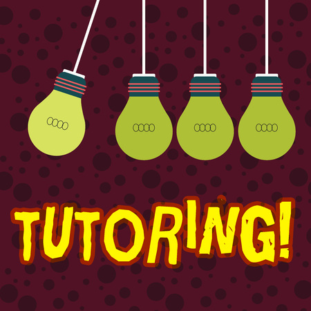 Handwriting text writing Tutoring. Conceptual photo Mentoring Teaching Instructing Preparing Supporting Give lessons