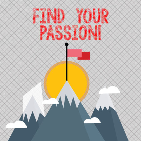 Word writing text Find Your Passion. Business photo showcasing encourage showing find their dream 版權商用圖片