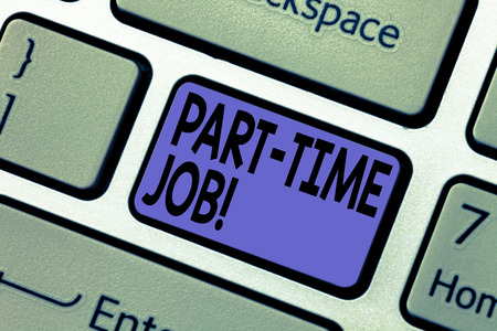 Handwriting text writing Part Time Job  Concept meaning Working